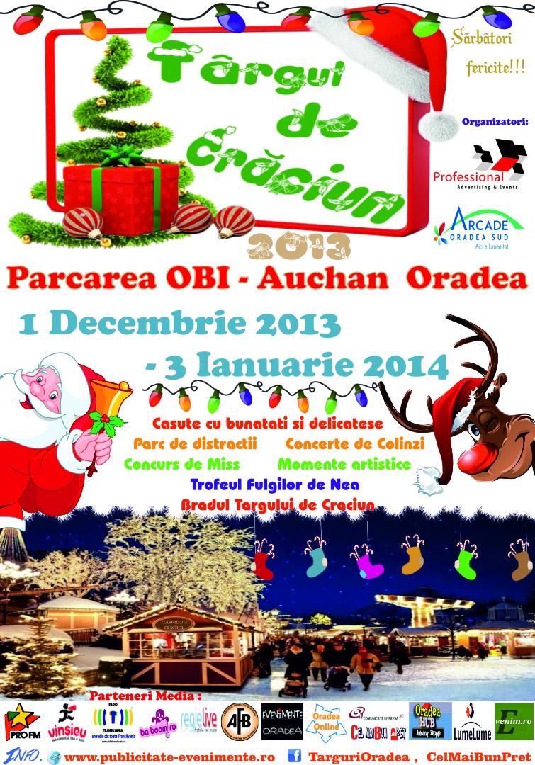 AFIS Targ de Craciun Oradea, 1 decembrie - 3 Ianuarie 2014