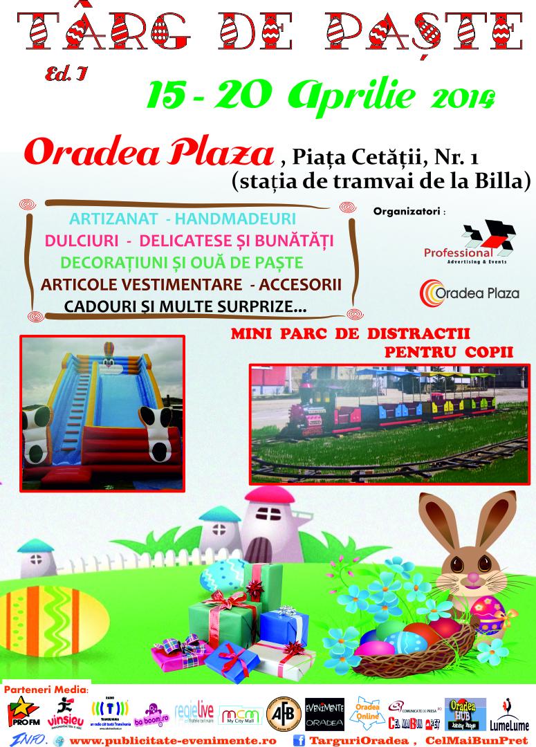 Afis Targ de Paste 2014 Oradea Plaza F.
