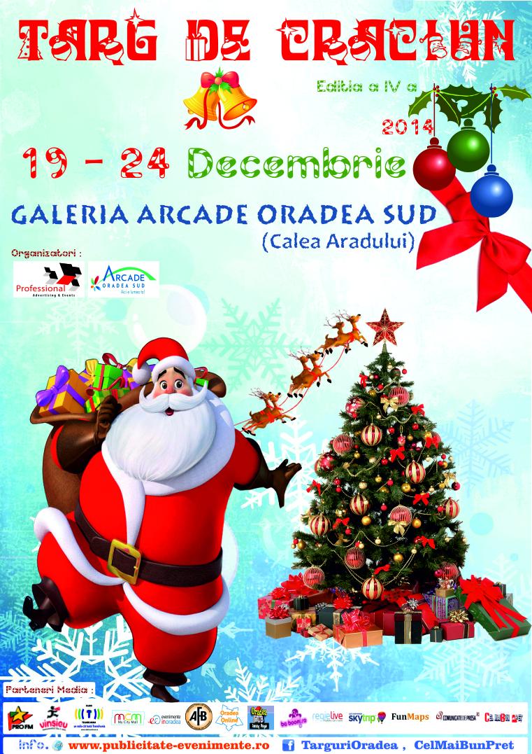 Afis Targ de Craciun Galeria Arcade Oradea Sud 19 - 24 Decembrie 2014