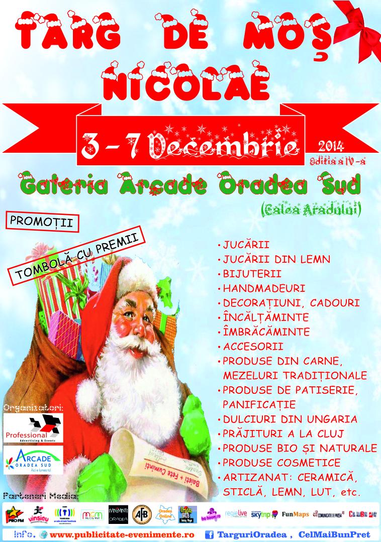 Targ de Mos Nicoale  3 - 7 Decembrie 2014 - Galeria Arcade Oradea Sud (Auchan)